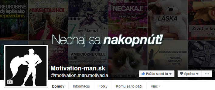 Motivation-Man.sk Facebook FanPage