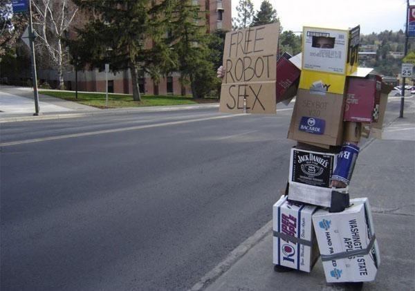 Robot, ktorý ponúka sex zdarma