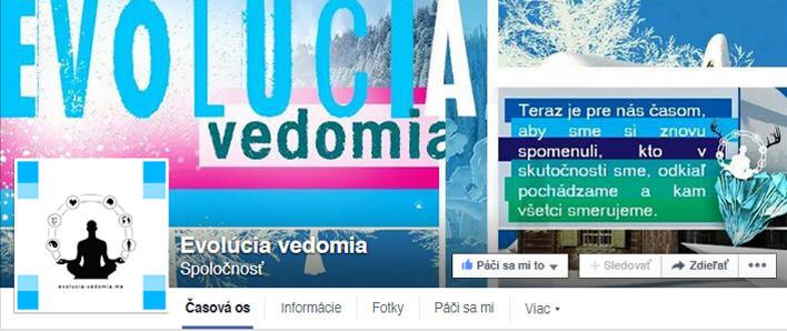Evolúcia Vedomia Facebook FanPage