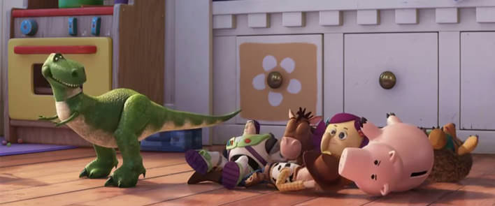 Rex v rozprávke Toy Story