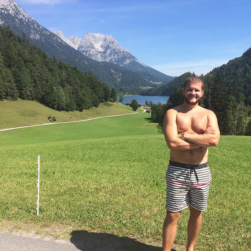 Tirolské hory a jazero 🙂