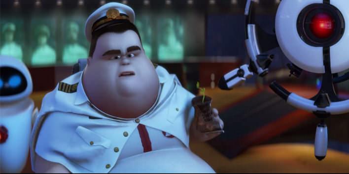 Kapitán lode v rozprávke Wall-E