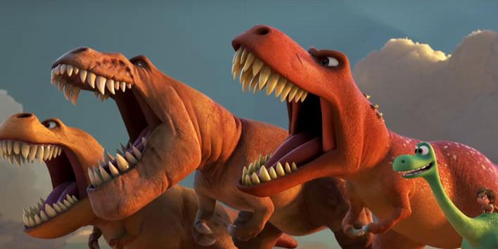 Busch a dinosaure v rozprávke Dobrý Dinosaurus
