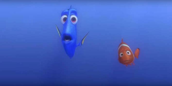 Dory a Nemo z rozprávky Hľadá Sa Nemo
