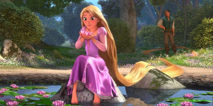 Rapunzel z rozprávky Na Vlásku