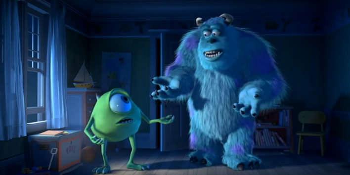 Mike a Sully z rozprávky Monsters a.s.