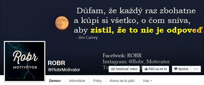 Robr Facebook FanPage
