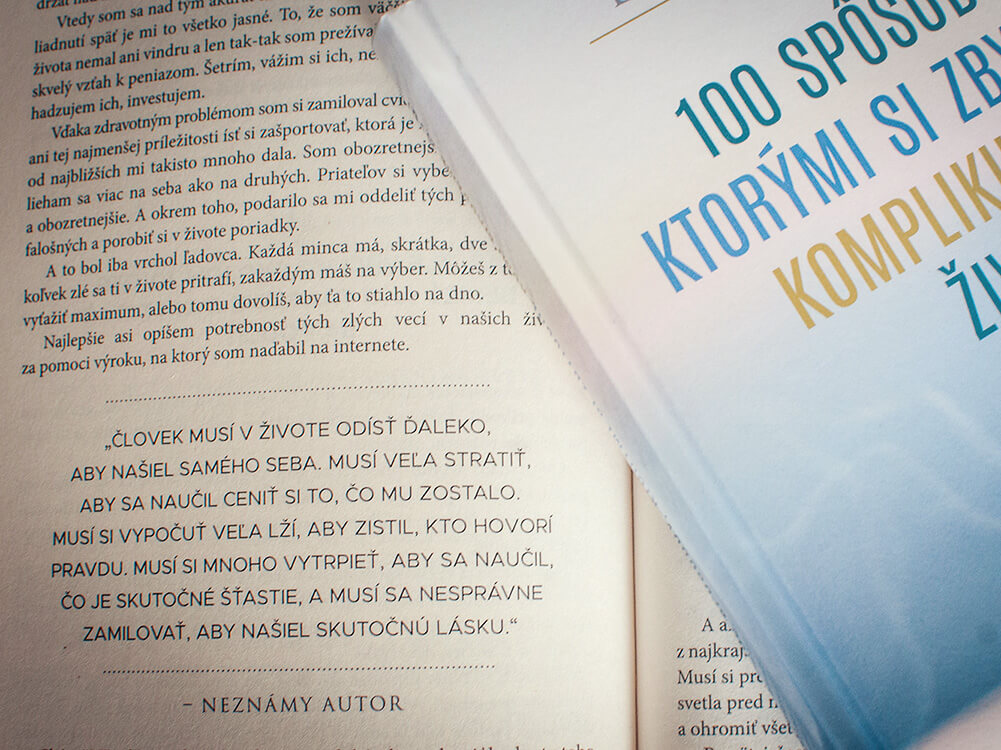 Kniha 100 Spôsobov, Ktorými Si Zbytočne Komplikujeme Život (a ako s tým prestať!) od Dušana Kadleca - Motivation-Man.sk